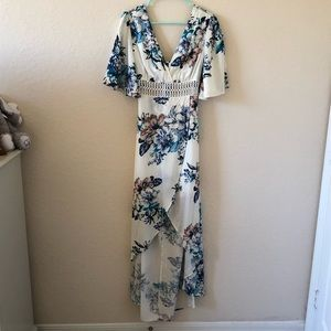 NWT White Floral Maxi Dress